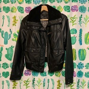 Jackets & Blazers - Jessica Simpson faux leather bomber jacket
